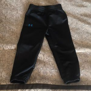 Under Armour 2T black pants with elastic bottom